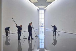 Polyurethaan vloer in museum van hedendaagse kunst.