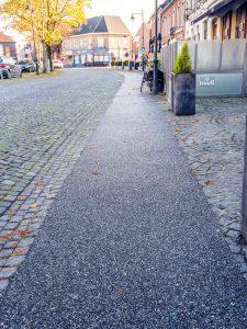 Terradec pad voor fietsers en voetgangers.